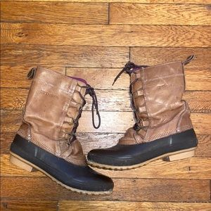 Tretorn brown leather rubber duck boots 41 / 10